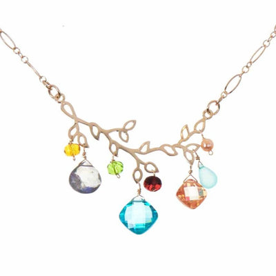 Victoria Gemstone Branch Necklace-Anna Balkan