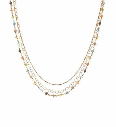 Isabella Three Tier Necklace-Anna Balkan