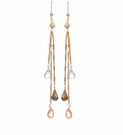 Kay Three Strand Earrings-Anna Balkan