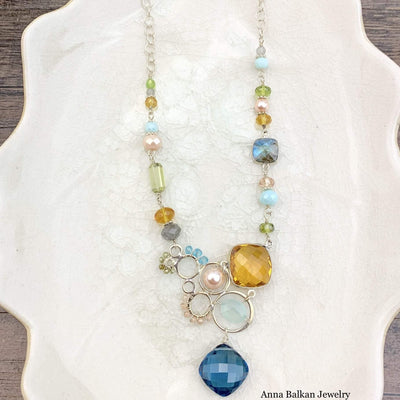 Arianna Large Bubble Necklace-Anna Balkan