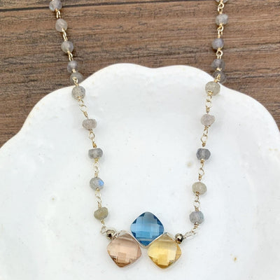 Kate Rosary and Gem Necklace - Anna Balkan