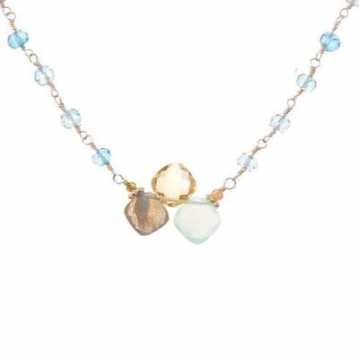 Kate Rosary and Gem Necklace-Anna Balkan