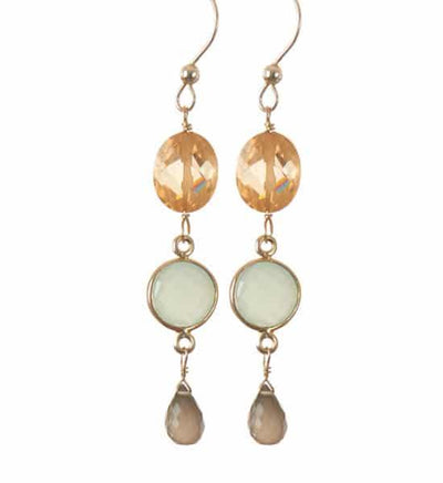 Piper Three Tier Classic Drop Earrings-Anna Balkan