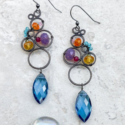 Large Statement Bubbles and Marquee Earrings