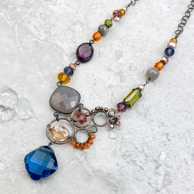 Limited Edition Topaz Drape Necklace-Anna Balkan