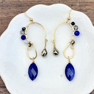Peyton Swirl Statement Earrings-Anna Balkan