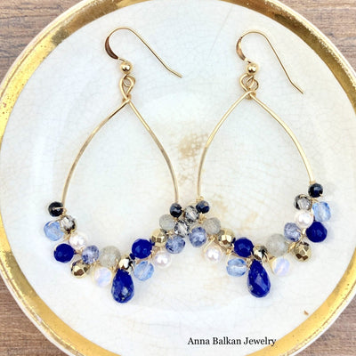 Signature Anna Gemstone Hoop Earrings-Anna Balkan