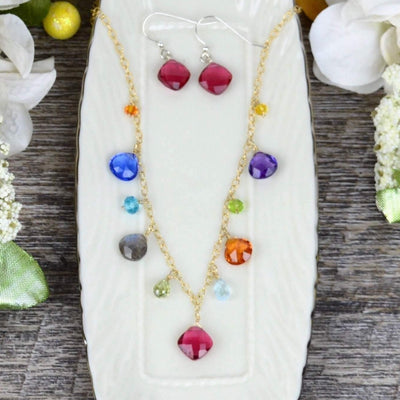 Instant Classic New Zina Colorful Gemstone Necklace-Anna Balkan