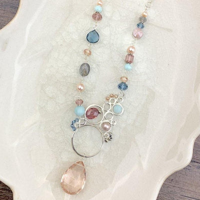Layla Asymmetrical Large Bubble Necklace-Anna Balkan