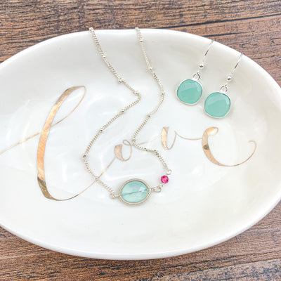 erica style necklace with paired earrings