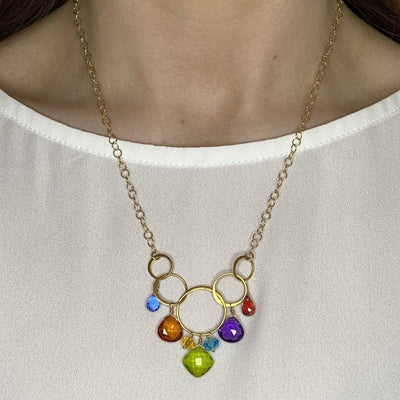 Colorful Free Spirit Gemstone Necklace-Anna Balkan