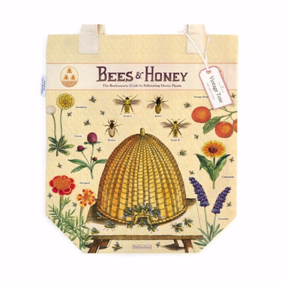 bees and honey Vintage Tote Bag