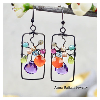 Framed Art Statement Earrings - Anna Balkan