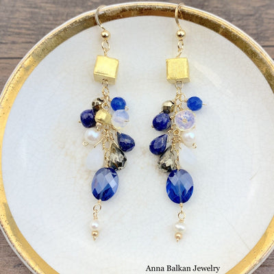 Playful Gems Mix Shape Earrings-Anna Balkan