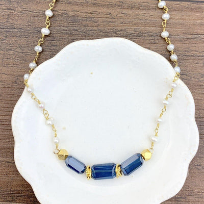 Gemstone Nuggets Layering Necklace-Anna Balkan