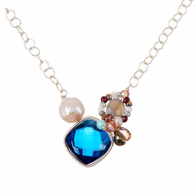 Nellie Signature Gemstone Necklace-Anna Balkan