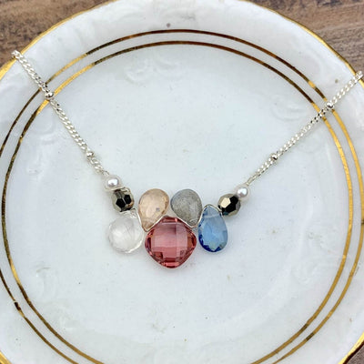 Mini Katie Colorful Gem Necklace - Anna Balkan