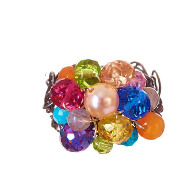 Raya Adjustable Size Woven Ring-Anna Balkan