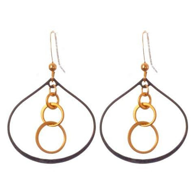 Fun Mix Metal Lily Petal Hoop and Gems Earrings - Anna Balkan