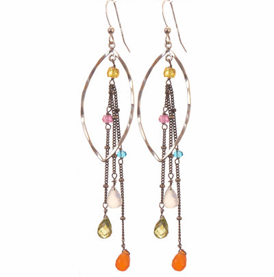 Taylor Marquee Hoop Earrings-Anna Balkan