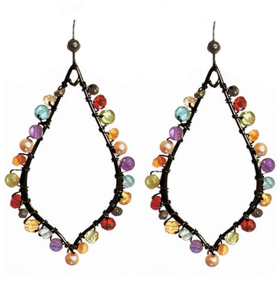 Madison Petal Hoop Earrings-Anna Balkan