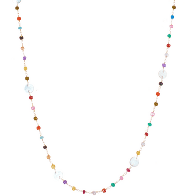 Nicole Disc Layering Necklace-Anna Balkan