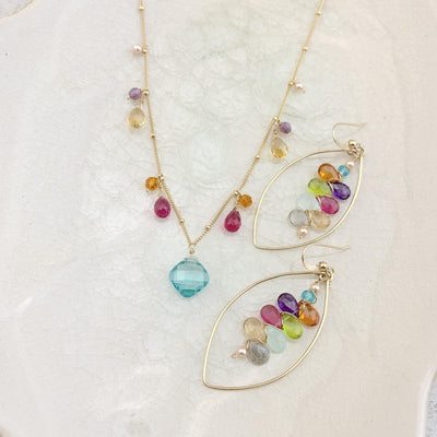 Happy and Colorful Aqua Elegant Jewelry Set