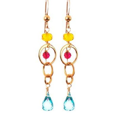 Fun Everyday Colorful Drop Earrings-Anna Balkan