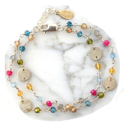 May Mix Gems and Discs Bracelet - Anna Balkan