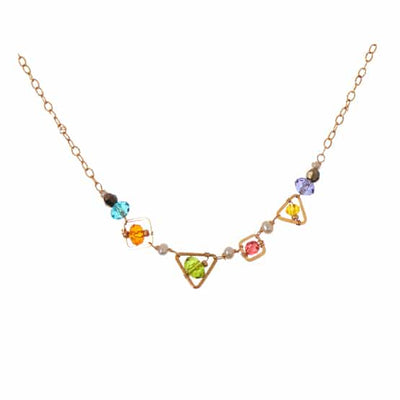 Mixed Shapes Colorful Layering Necklace-Anna Balkan