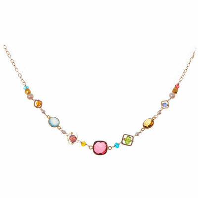 Medium Mixed Shapes Colorful Layering Necklace - Anna Balkan