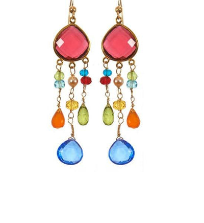 Victoria Chandelier Statement Earrings-Anna Balkan
