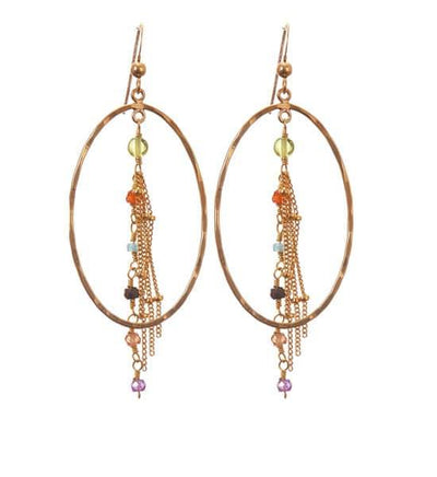 Hannah Oval Hoop Earrings - Anna Balkan