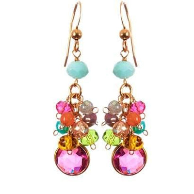 Misha Colorful Cascading Earrings - Anna Balkan