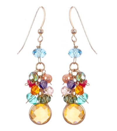 Misha Colorful Cascading Earrings Earrings - Anna Balkan