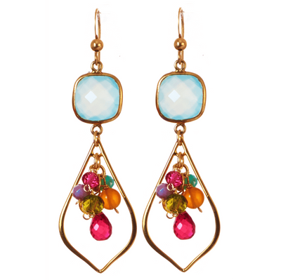 Abigail Long Petal Earrings-Anna Balkan