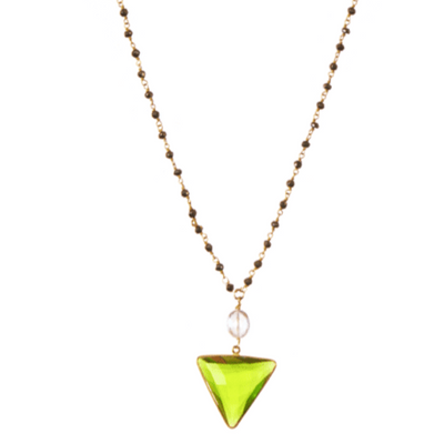 Sofia Triangle and Gem Necklace - Anna Balkan