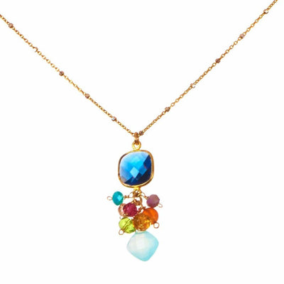 Sienna Bezeled Pendant Necklace-Anna Balkan