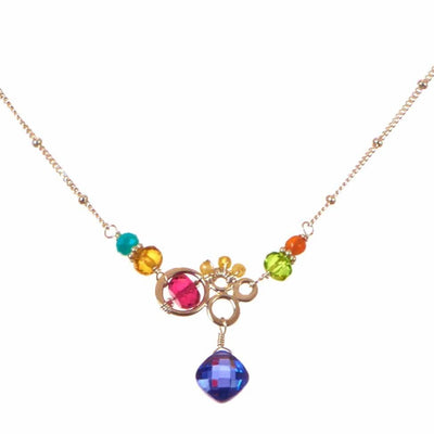 Aria Small Bubble Necklace-Anna Balkan