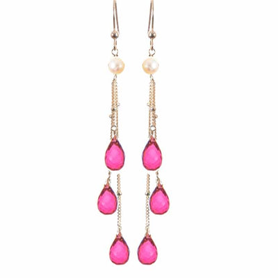 Rain Three Strand Earrings-Anna Balkan