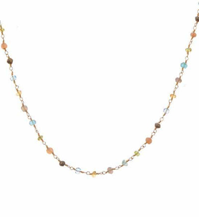 Katie Long Layering Rosary Gemstone Necklace - Anna Balkan