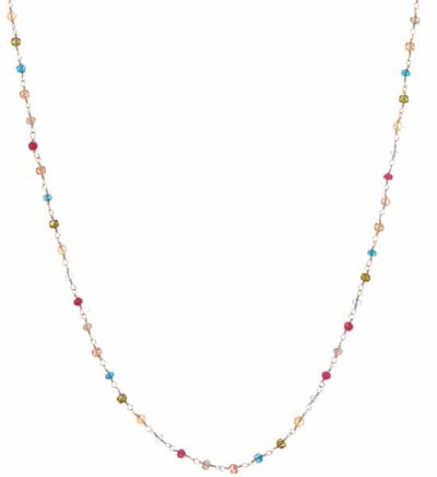 Katie Long Layering Rosary Gemstones Necklace - Anna Balkan