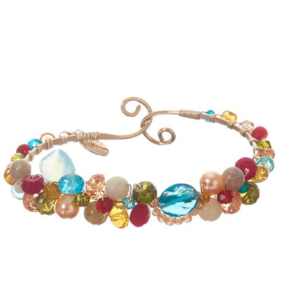 Shepards Hook Signature London Blue Topaz and Gems Bracelet-Anna Balkan
