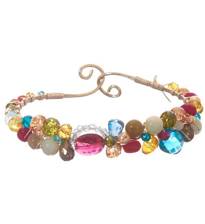 Shepards Hook Signature Ruby Quartz and Gems Bracelet-Anna Balkan