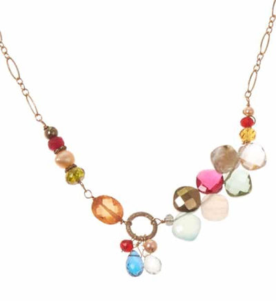 Juno Multigem Necklace-Anna Balkan