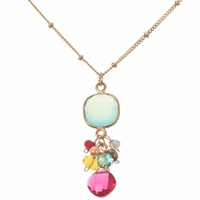 Sienna Bezeled Pendant Necklace - Anna Balkan
