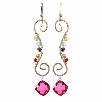 Kala Swirl Earrings-Anna Balkan