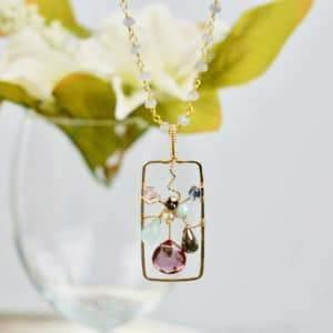 Flower in a Frame Necklace - Anna Balkan