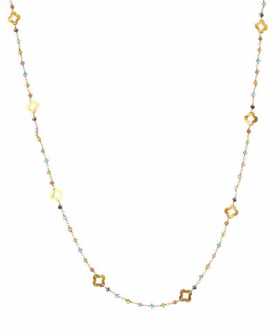 Cat Clover Layering Necklace-Anna Balkan