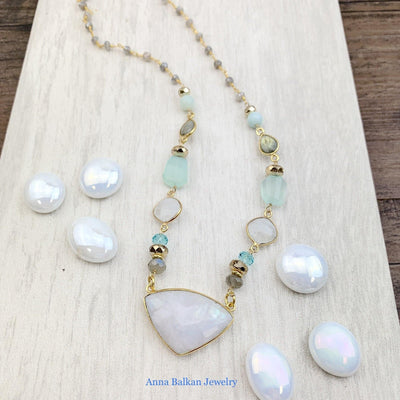 moonstone statement necklace 1